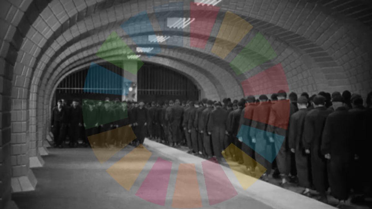Arbeiterklasse im Film Metropolis; Foto: Screenshot